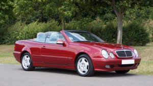 Red Mercedes-Benz Cabrio Auto