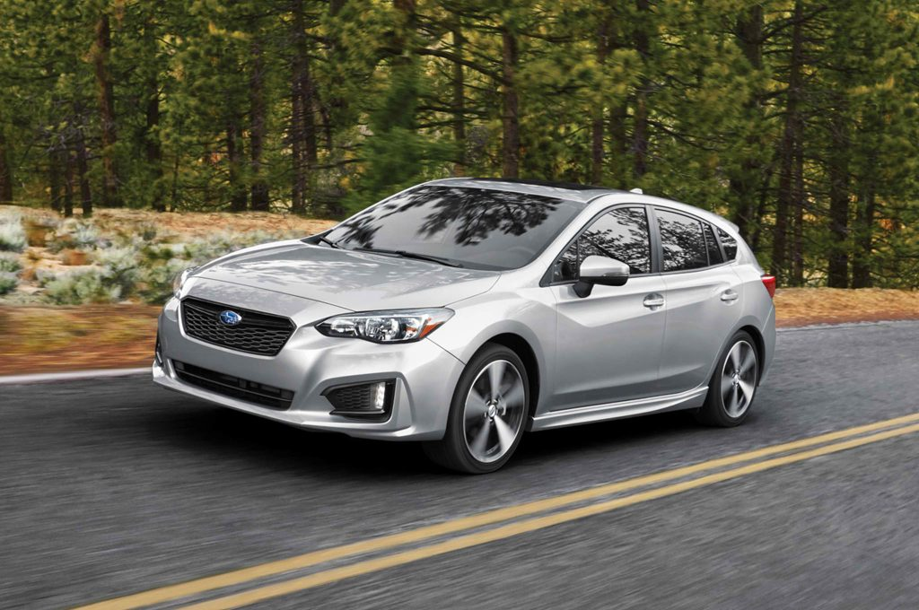 2017-Subaru-Impreza-20i-Sport-5-Door-front-three-quarter-in-motion-02