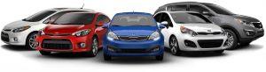 variety of car makes and models