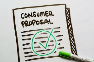 consumer proposal on your credit history